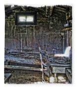 19th Century Miner's Cabin - Montana Fleece Blanket