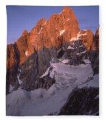 1m9380-sunrise On The North Face Of Grand Teton Fleece Blanket
