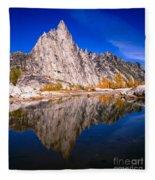 Prusik Peak On Gnome Tarn Fleece Blanket