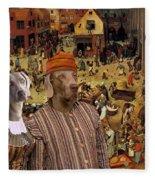 Weimaraner Art Canvas Print  Fleece Blanket