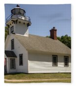 1870 Mission Point Lighthouse Fleece Blanket