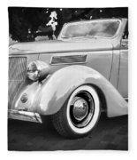 1936 Ford Cabriolet Bw  Fleece Blanket