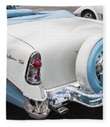 1956 Chevrolet Bel Air Convertible Fleece Blanket