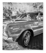 1967 Plymouth Belvedere Gtx 440 Painted Bw Fleece Blanket