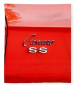 1969 Chevy Camaro Ss 396 Painted Fleece Blanket