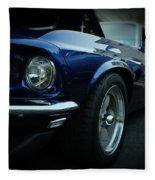 1969 Ford Mustang Mach 1 Fastback Fleece Blanket