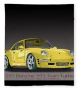 1997 Porsche  993 Twin Turbo Fleece Blanket