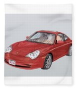 2002 Porsche 996  Fleece Blanket