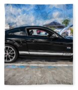2007 Ford Mustang Shelby Gt Painted  Fleece Blanket