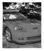 2010 Chevrolet Corvette Grand Sport Bw  Fleece Blanket