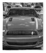 2013 Ford Mustang Gt Cs Painted Bw Fleece Blanket