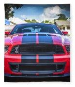 2013 Ford Shelby Mustang Gt500 Fleece Blanket