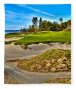 #3 At Chambers Bay Golf Course - Location Of The 2015 U.s. Open Championship Fleece Blanket