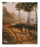A Country Lane Fleece Blanket