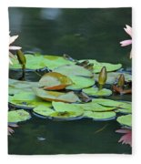 A Day At The Lily Pond Fleece Blanket