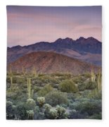 A Desert Sunset  Fleece Blanket