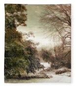 A Dusting Of Snow Fleece Blanket