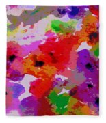 A Little Watercolor Fleece Blanket
