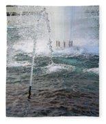 A World War Fountain Fleece Blanket