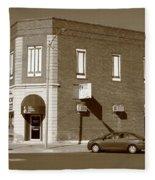 Abilene Kansas - 2nd And Broadway Fleece Blanket