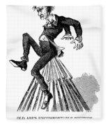 Abraham Lincoln Cartoon Fleece Blanket