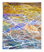 Abstract Background - Citylights At Night Fleece Blanket