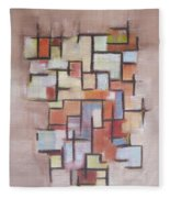 Abstract Line Series  Fleece Blanket