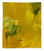 Abstract Parrot Tulip Fleece Blanket