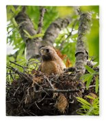 Adult Red Shouldered Hawk Fleece Blanket