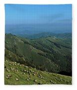 Aerial View Of Mountain Range Fleece Blanket