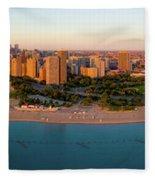 Aerial View Of North Avenue Beach Fleece Blanket