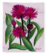 African Daisies Fleece Blanket