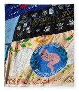 Aids Quilt -- 3 Fleece Blanket