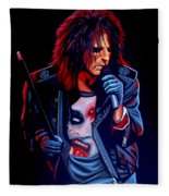 Alice Cooper  Fleece Blanket