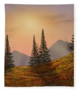 Alpine Sunset Fleece Blanket