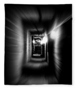Altered Image Of A Tunnel Leading Out Of The Catacombs In Paris France Fleece Blanket