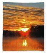 American Lake Sunrise Fleece Blanket