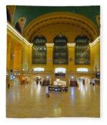 2 A.m.grand Central Station  Fleece Blanket