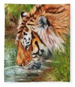 Amur Tiger Fleece Blanket