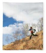 An Adult Male Trail Running Fleece Blanket