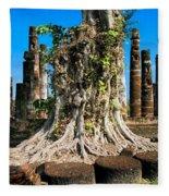 Ancient Temple Ruins Fleece Blanket