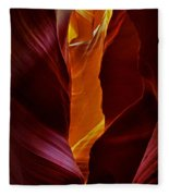 Antelope Canyon - Arizona Fleece Blanket