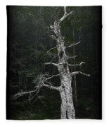 Anthropomorphic Tree Fleece Blanket