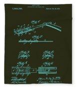 Antique Safety Razor Patent 1912 Fleece Blanket