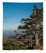 Appalachian Mountains From Mount Mitchell  Fleece Blanket