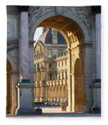 Arc De Triomphe Du Carrousel Fleece Blanket