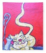 Art Cat Fleece Blanket