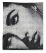 Art In The News 15-elizabeth Fleece Blanket