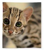 Asian Leopard Cub Fleece Blanket