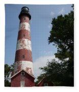 Assateague Lighthouse Fleece Blanket